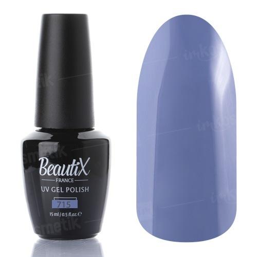 Beautix, Гель-лак №715 (15 мл.)Beautix<br>Гель-лак,серо-сиреневый, глянцевый, плотный<br>