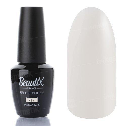 Beautix, Гель-лак №717 (15 мл.)Beautix<br>Гель-лак, кремово-молочный,глянцевый, без блесток и перламутра, плотный<br>
