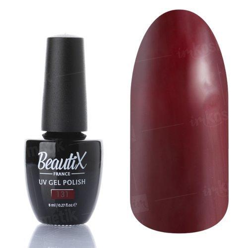 Beautix, Гель-лак №131 (8 мл.)Beautix<br>Гель-лак, бордовый, глянцевый,плотный<br>