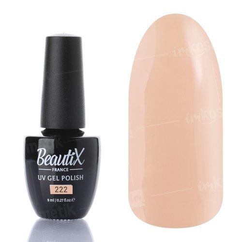 Beautix, Гель-лак №222 (8 мл.)Beautix<br>Гель-лак, бежево-персиковый, глянцевый, плотный<br>