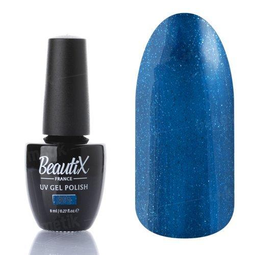 Beautix, Гель-лак №309 (8 мл.)Beautix<br>Гель-лак, глубинный сине-зеленый, глянцевый, с блестками, плотный<br>