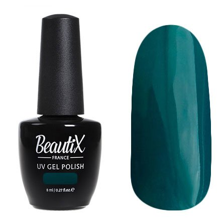 Beautix, Гель-лак №316 (8 мл.)Beautix<br>Гель-лак, темный зелено-бирюзовый, глянцевый, плотный<br>