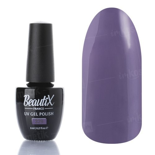 Beautix, Гель-лак №329 (8 мл.)Beautix<br>Гель-лак, сиренево-серый, глянцевый, плотный<br>