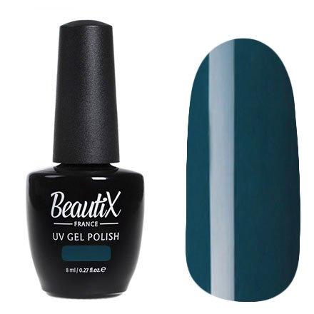 Beautix, Гель-лак №423 (8 мл.)Beautix<br>Гель-лак, темно-бирюзовый,глянцевый, без блесток и перламутра, плотный<br>