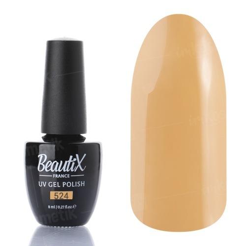 Beautix, Гель-лак №524 (8 мл.)Beautix<br>Гель-лак, светло-горчичный,глянцевый, без блесток и перламутра, плотный<br>