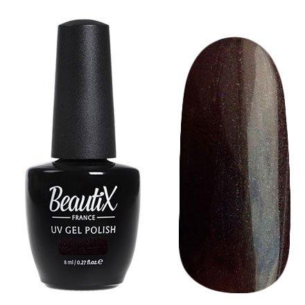 Beautix, Гель-лак №613 (8 мл.)Beautix<br>Гель-лак, горький шоколад, глянцевый, с микроперламутром, плотный<br>