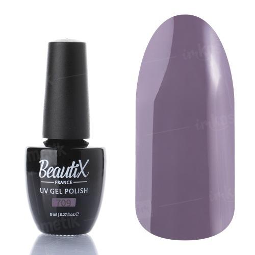 Beautix, Гель-лак №709 (8 мл.)Beautix<br>Гель-лак, серо-лиловый, глянцевый, плотный<br>