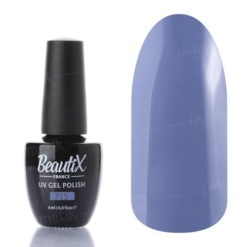 Beautix, Гель-лак №715 (8 мл.)Beautix<br>Гель-лак,серо-сиреневый, глянцевый, плотный<br>
