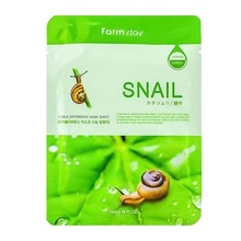 FarmStay, Visible Difference Mask Sheet Snail - Тканевая маска для лица с муцином улитки