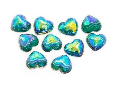 TNL, Пластиковый дизайн - Сердце (Павлин, 10 шт. в уп.)Пластиковый дизайн<br>Пластиковый дизайн - Сердце<br>