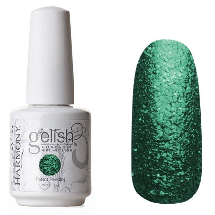 01551 Just What I Wanted! Harmony GelishHarmony Gelish<br>Насыщенный зеленый с мелкими блестками, полупрозрачный<br>