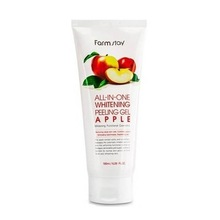 FarmStay, All-In-One Whitening Peeling Gel Apple - Пилинг-гель c экстрактом яблока (180 мл.)