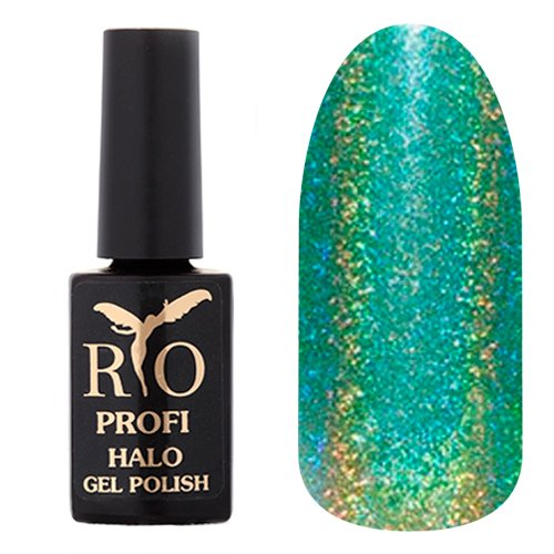 Rio Profi, Гель-лак Halo - Рисовые Террасы №02 (7 мл.)Rio Profi<br>Гель-лак светло-зеленый, с голографическими микроблестками, плотный<br>