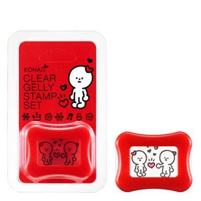 Konad, Штамп+Скрапер Прозрачный Clear Gelly Stamp (Красный)Инструменты и Аксессуары Konad<br>Прозрачный штамп для стемпинга.<br>