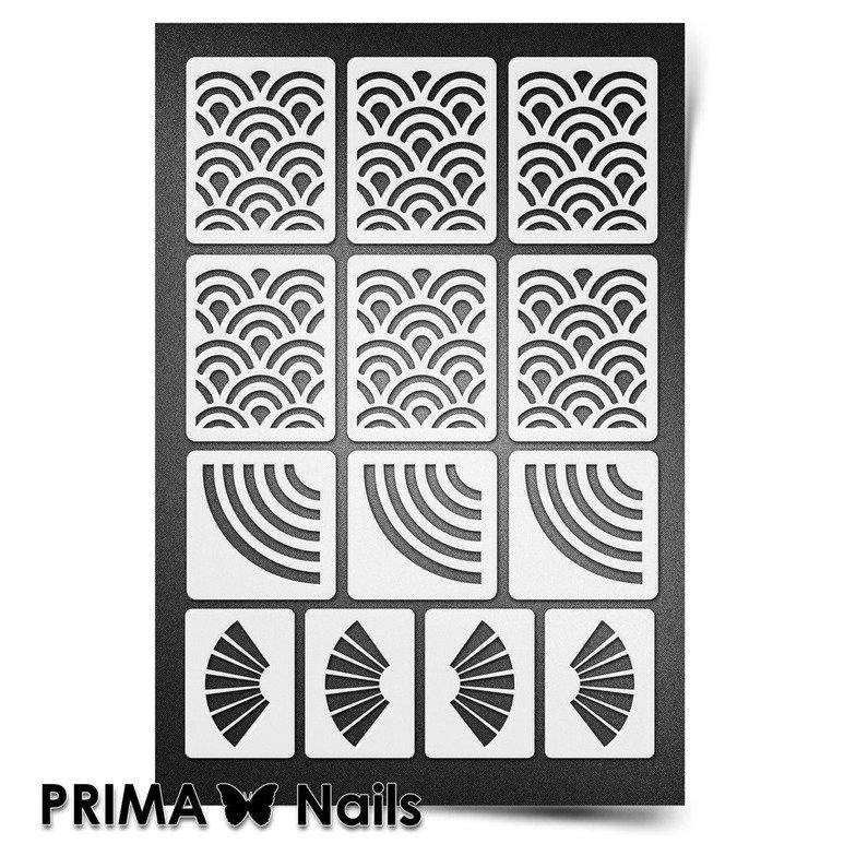 PrimaNails, Трафарет для дизайна ногтей New Size - ЯпонияPrimaNails<br>Самоклеющиеся трафареты мини<br>