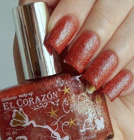 El Corazon Confetti, № 528AЛаки El Corazon<br>Лак светло-оранжевый, плотный, с блестками.Объем 16 ml.<br>