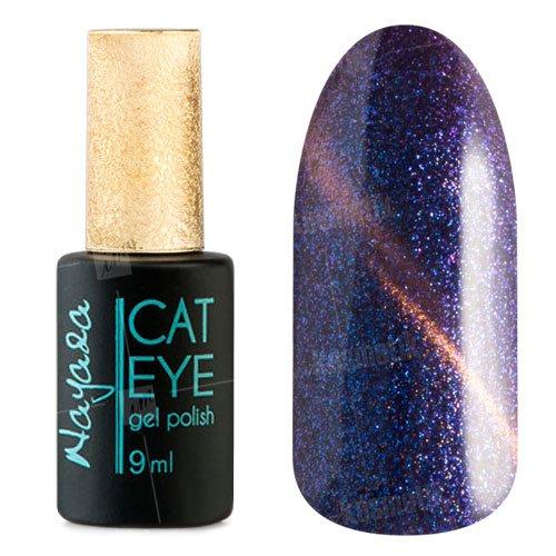 Nayada, Гель-лак Magnet №564 (9 мл.)Nayada<br>Гель-лак с эффектом кошачий глаз, коричнево-сливовый, золотистый блик, синие и фиолетовые блестки, плотный.<br>