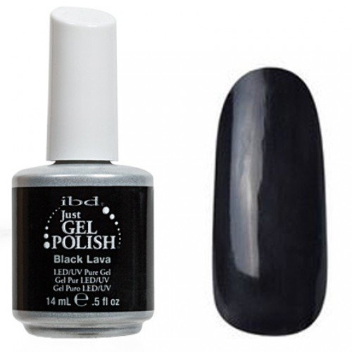 56507 Black Lava, IBDIBD Just Gel<br>Черный, плотный, без перламутра<br>