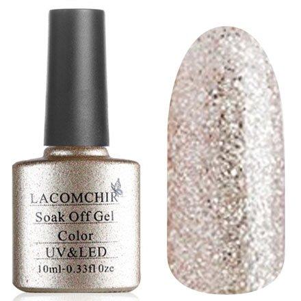 Lacomchir, Гель-лак № NC-113 (10 мл.)Lacomchir<br>Гель-лак серебряные и розовые блестки, полупрозрачный.<br>