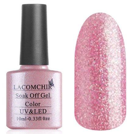 Lacomchir, Гель-лак № NC-86 (10 мл.)Lacomchir<br>Гель-лак розовый, с голографическими блестки, полупрозрачный.<br>