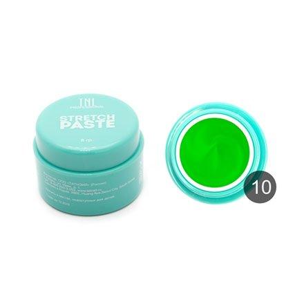 TNL, Stretch paste №10- зелёный лайм (8 гр).Стрейч-пасты TNL<br>Светоотверждаемая полимерная паста<br>