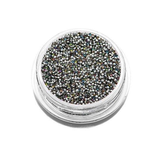 TNL Бульонки металлические 1 мм (серебро)
