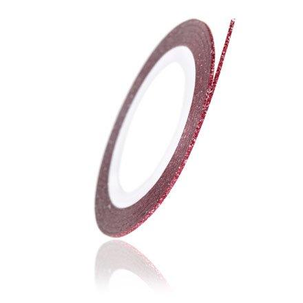 TNL, Нить на клеевой основе (Перламутровая, красная)Самоклеющаяся лента для дизайна ногтей<br>Нить 0,1 см, длина 1 метр<br>