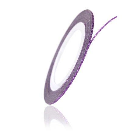 TNL, Нить на клеевой основе (Перламутровая, фиолетовая)Самоклеющаяся лента для дизайна ногтей<br>Аксессуар для украшения ногтей, нить 0,1 см, длина 1 метр.<br>