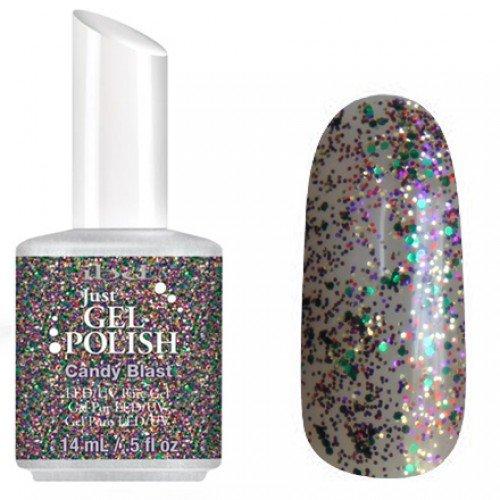 56689 Candy Blast, IBDIBD Just Gel<br>Полупрозрачный с серебристыми блестками и слюдой<br>