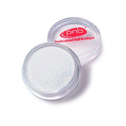 PNB, Color Acrylic Powder 02 Silver glitter - Пудра цветная акриловая 02 (серебряный блеск, 2г.)Акриловая пудра PNB<br>Цветная акриловая пудра 02серебряный блеск<br>