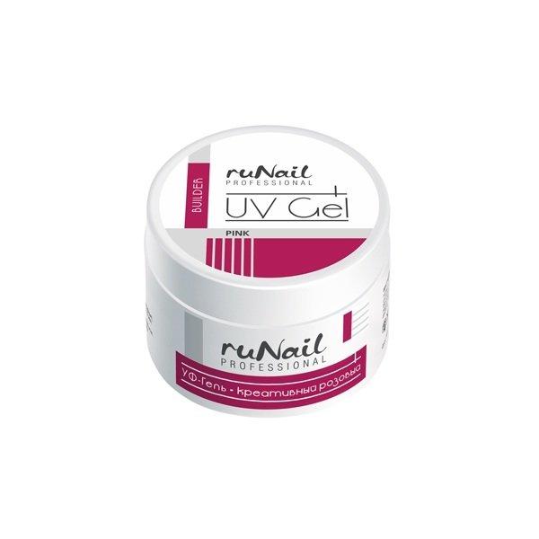 ruNail, УФ-гель креативный (Розовый), 15 гУФ гели RuNail<br>2-я фаза трехфазной системы. Придает ногтям натуральный розовый оттенок.<br>