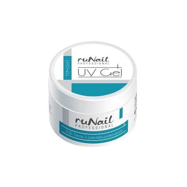 ruNail, УФ-гель завершающий, 15 гУФ гели RuNail<br>Верхнее покрытие на гелевой основе, в гелевой технологии заменяет фазу 3.<br>