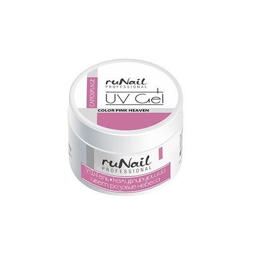 ruNail, УФ-гель камуфлирующий (Розовый, Pink), 30 гУФ-гели RuNail<br>Камуфлирующий гель нежного розового цвета, самовыравнивающийся, средней вязкости.<br>