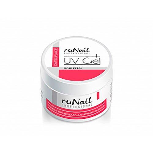 ruNail, УФ-гель камуфлирующий (Нежный Лепесток, Rose Petal), 30 гУФ гели RuNail<br>Идеально подходит для французского маникюра.<br>