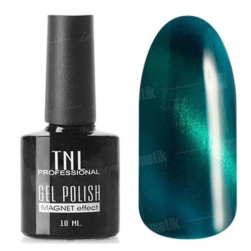 TNL, Гель-лак Кошачий глаз №13 - Зеленый (10 мл.)TNL Professional <br>Гель лак, зеленый, перламутровый, плотный. 10мл.<br>