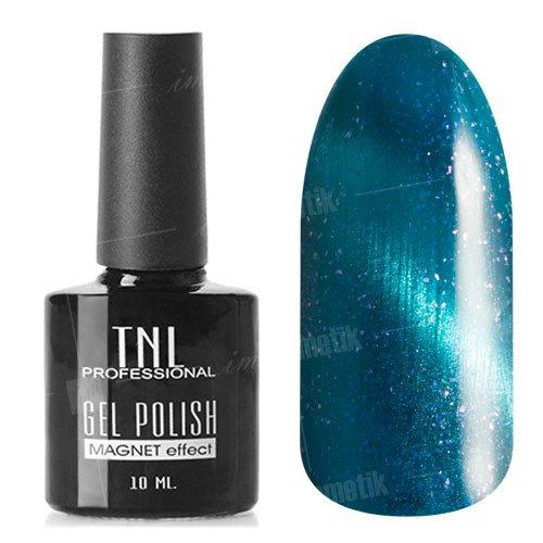 TNL, Гель-лак Кошачий глаз №22 - Синий с блестками (10 мл.)TNL Professional <br>Гель лак, синий с блестками, перламутровый, плотный. 10мл.<br>