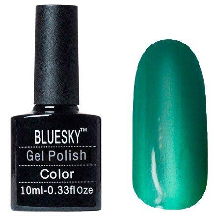 Bluesky, Шеллак Кошачий глаз №13Bluesky 10 мл<br>Гель-лак, изумрудный с микроблестками, плотный. 10мл<br>