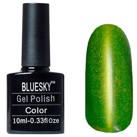 Bluesky Шеллак Кошачий глаз, №14Bluesky 10 мл<br>Гель-лак,болотный, изумрудный с микроблестками, плотный. 10мл<br>