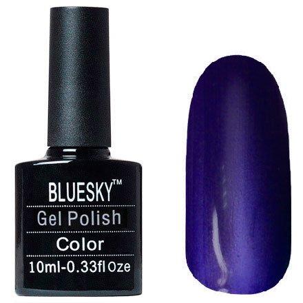 Bluesky Шеллак Кошачий глаз, №19Bluesky 10 мл<br>Гель-лак,синий перламутр, плотный. 10мл<br>