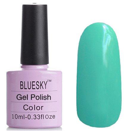 Bluesky Шеллак, цвет №048Bluesky 10 мл<br>Гель-лак насыщенный мятный, плотный.<br>