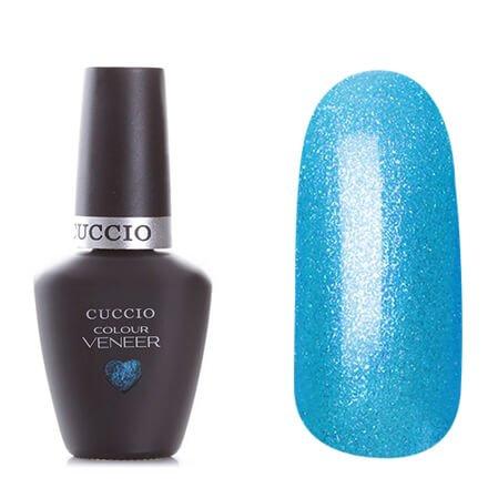 Cuccio Veneer, цвет № 6147 Roller Skate 13 mlCuccio Veneer<br>Гель-лакярко-бирюзовый, с ярко-бирюзовыми блестками, полупрозрачный.<br>