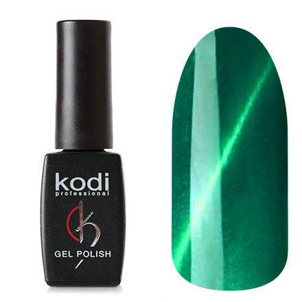 Kodi, Гель-лак Кошачий глаз № 739 (8ml)Kodi Professional <br>Магнитный гель-лак изумрудно-зеленый, перламутровый, с голубыми микроблестками, плотный, 8мл.<br>