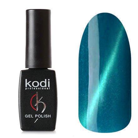Kodi, Гель-лак Кошачий глаз № 728 (8ml)Kodi Professional <br>Магнитный гель-лакцвета морской волны, перламутровый, плотный, 8мл.<br>