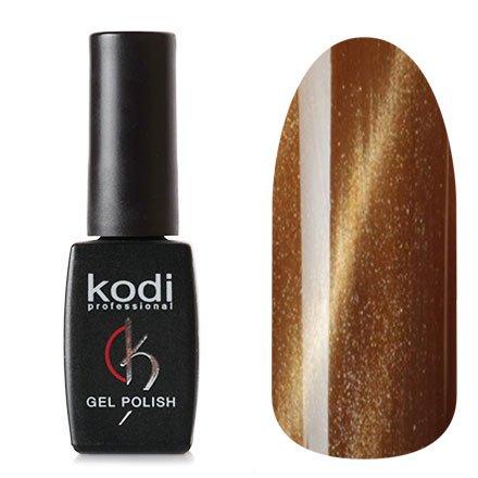 Kodi, Гель-лак Кошачий глаз № 709 (8ml)Kodi Professional <br>Магнитный ггель-лак золотисто-коричневый, перламутровый, плотный, 8мл.<br>