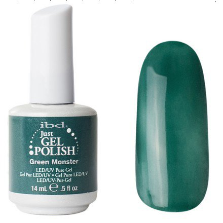 Гель-лак для ногтей IBD (56564 Green Monster) 14 млIBD Just Gel<br>Зеленый, без перламутра<br>