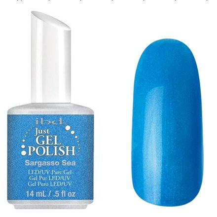 56598 Sargasso Sea, IBDIBD Just Gel<br>Голубой с мелкими блестками<br>